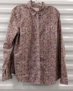Sonoma Life Style Roll Sleeve Top Tunic Blouse XL